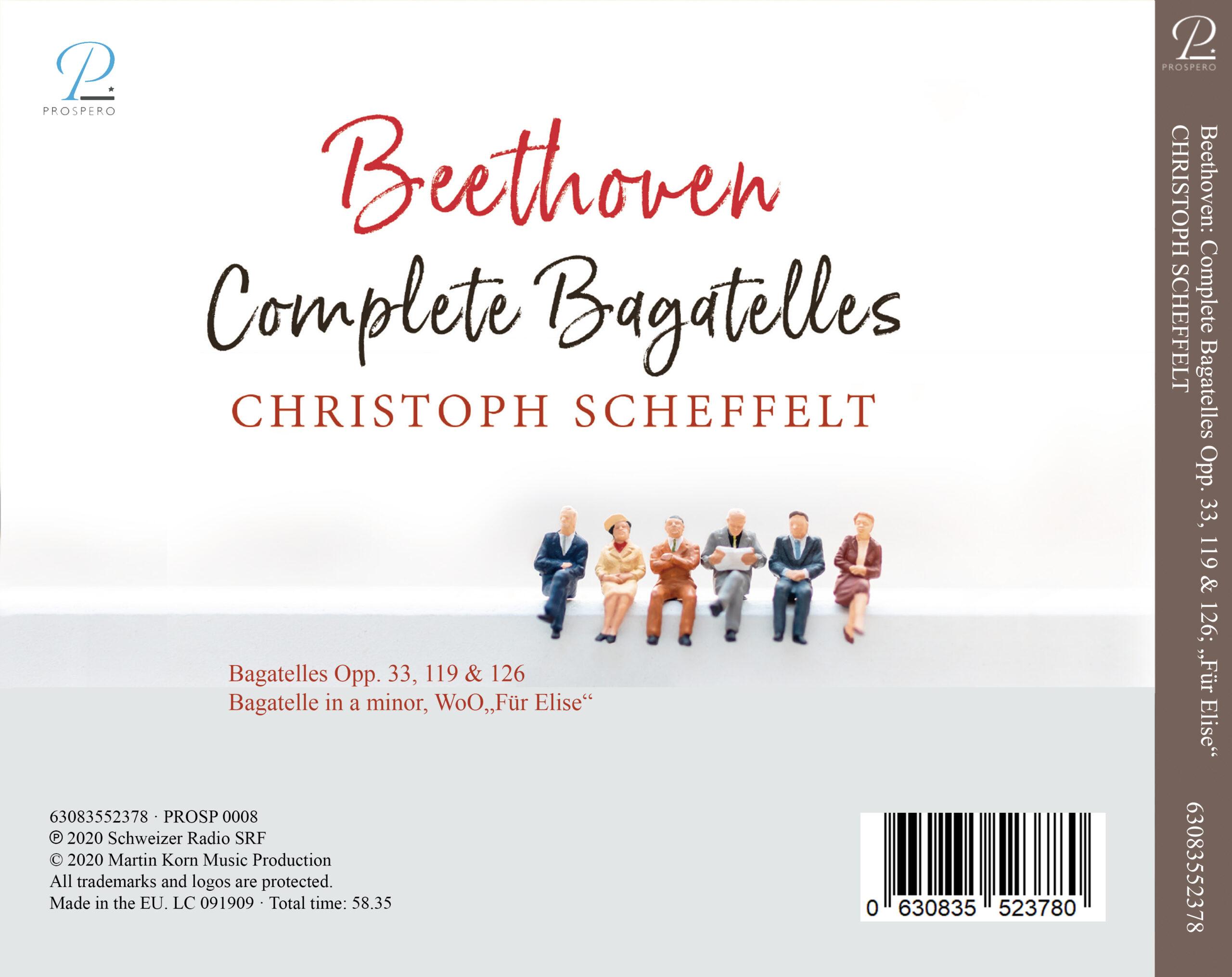 Beethoven Bagatelles - Digipack Back