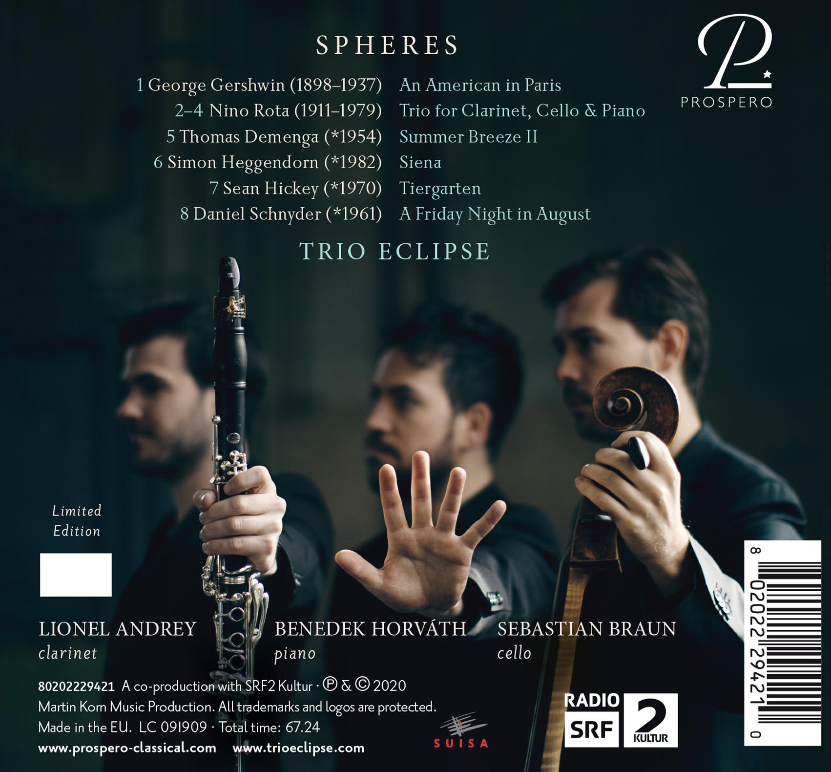 Trio Eclipse: Spheres - Hardcover Book Back