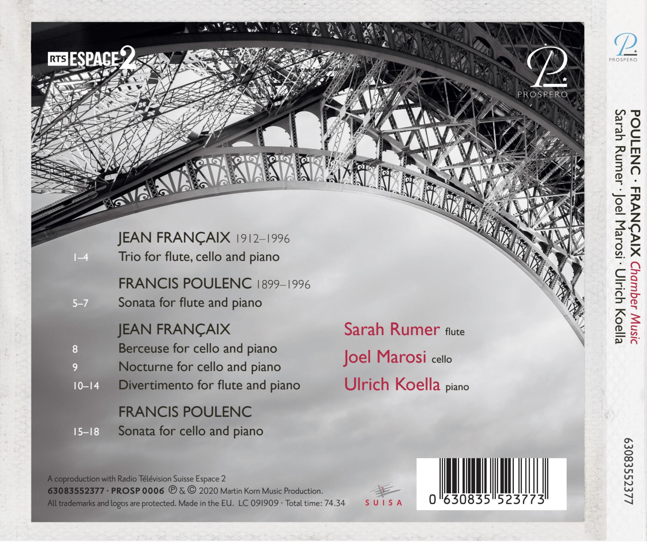 French Chamber Music - Digipack Back