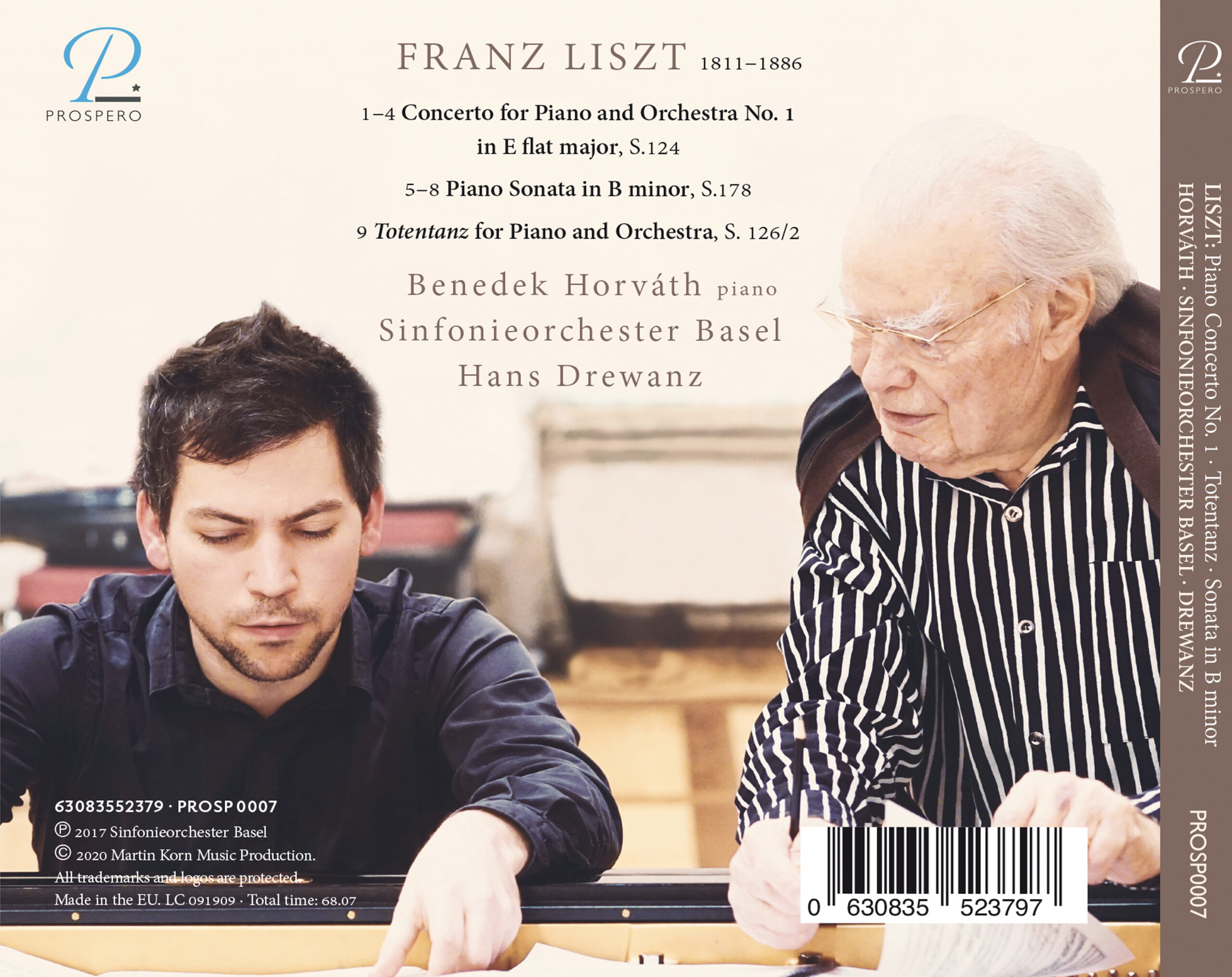 Liszt Piano Concerto - Digipack Back