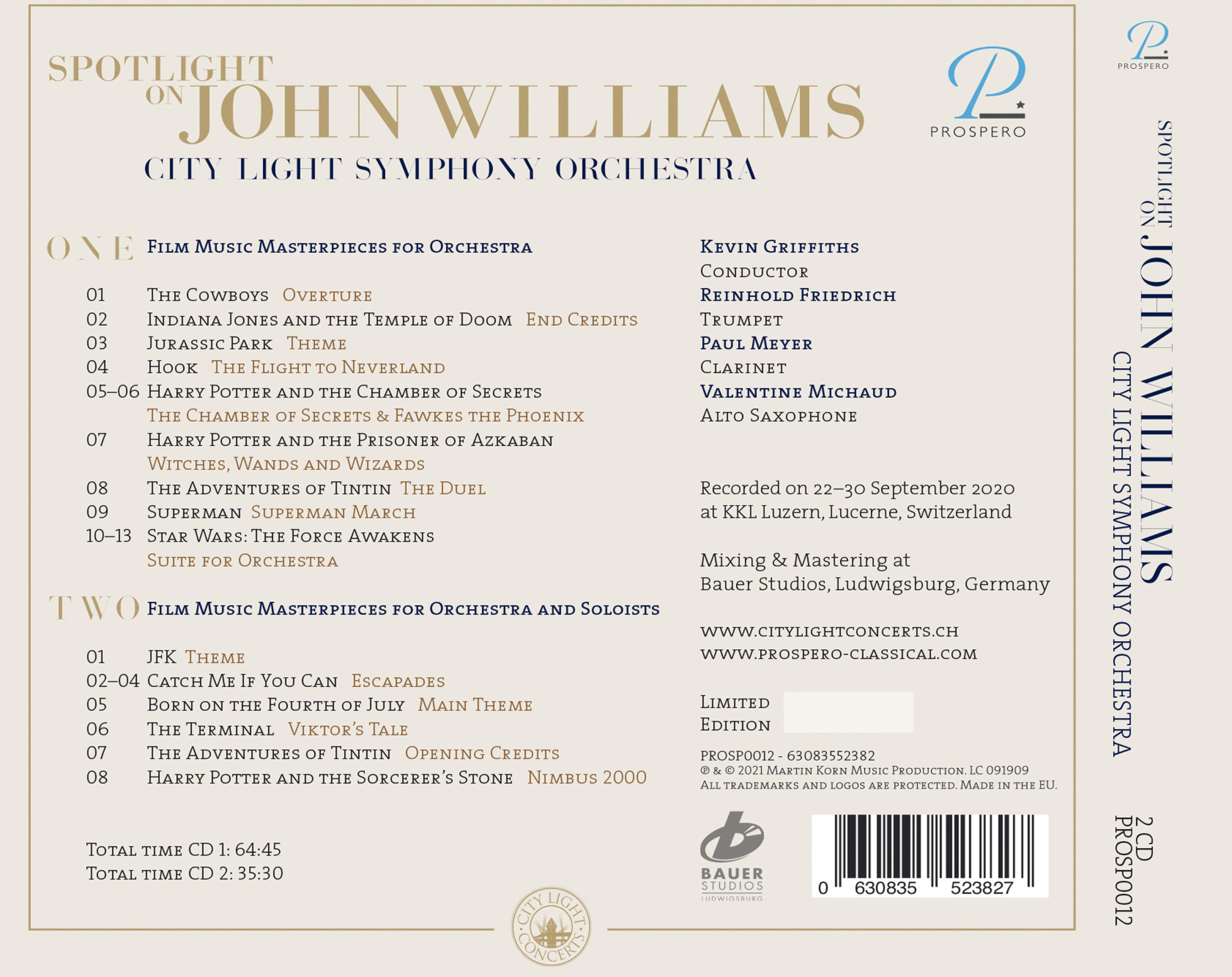 Spotlight on John Williams - Digipack Back