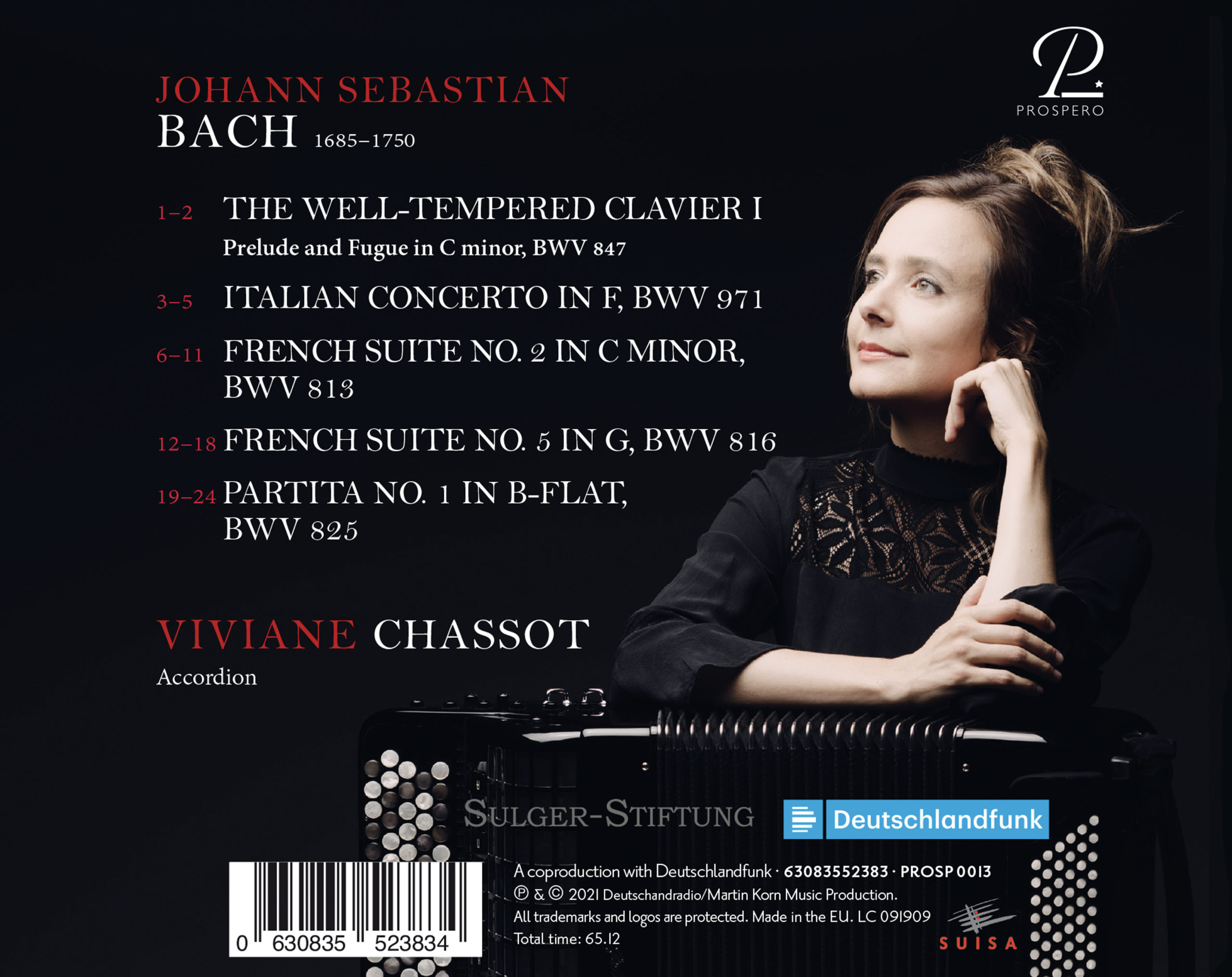 Pure Bach - Digipack Back