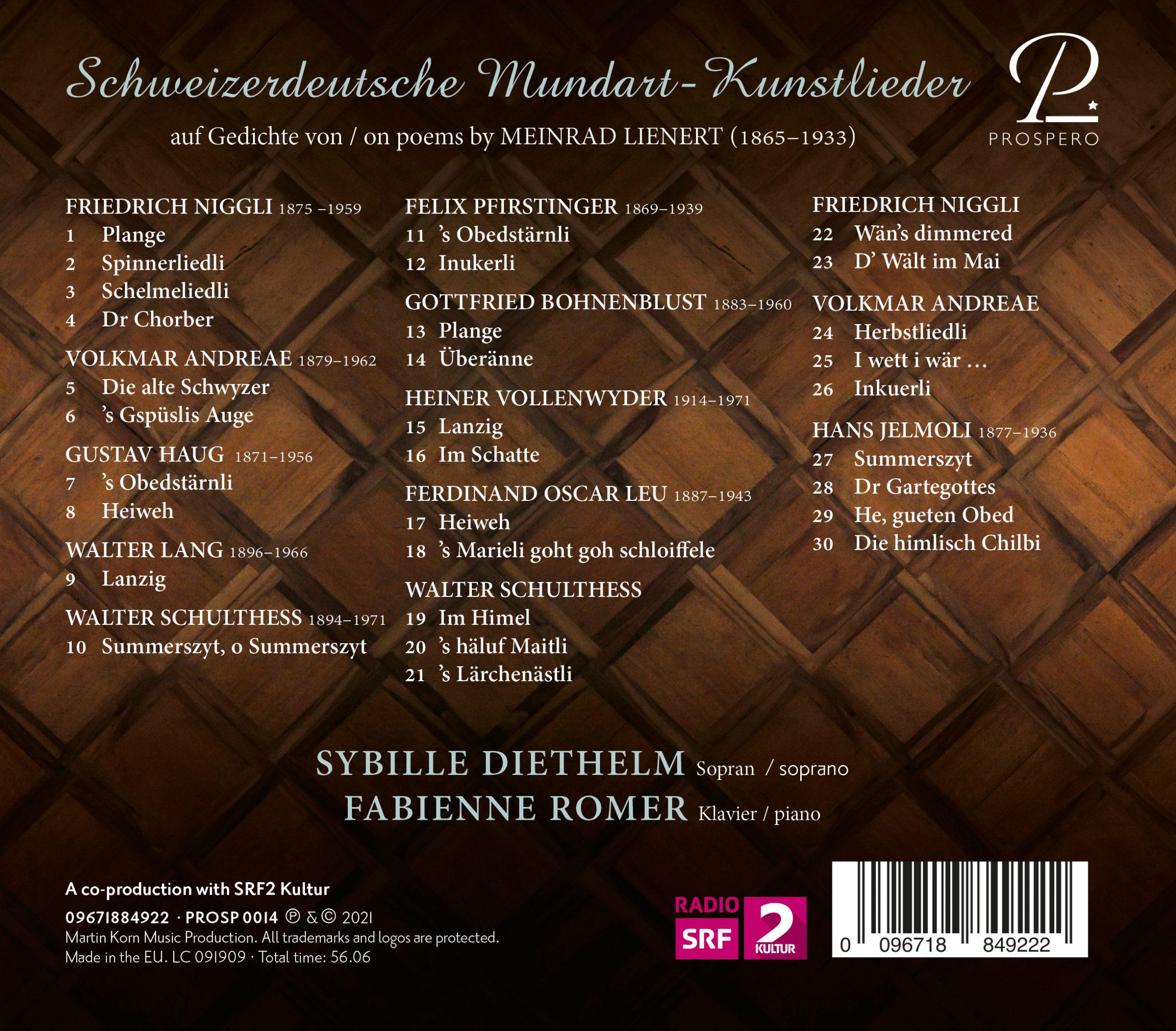 Schweizer Lieder - Digibook Back