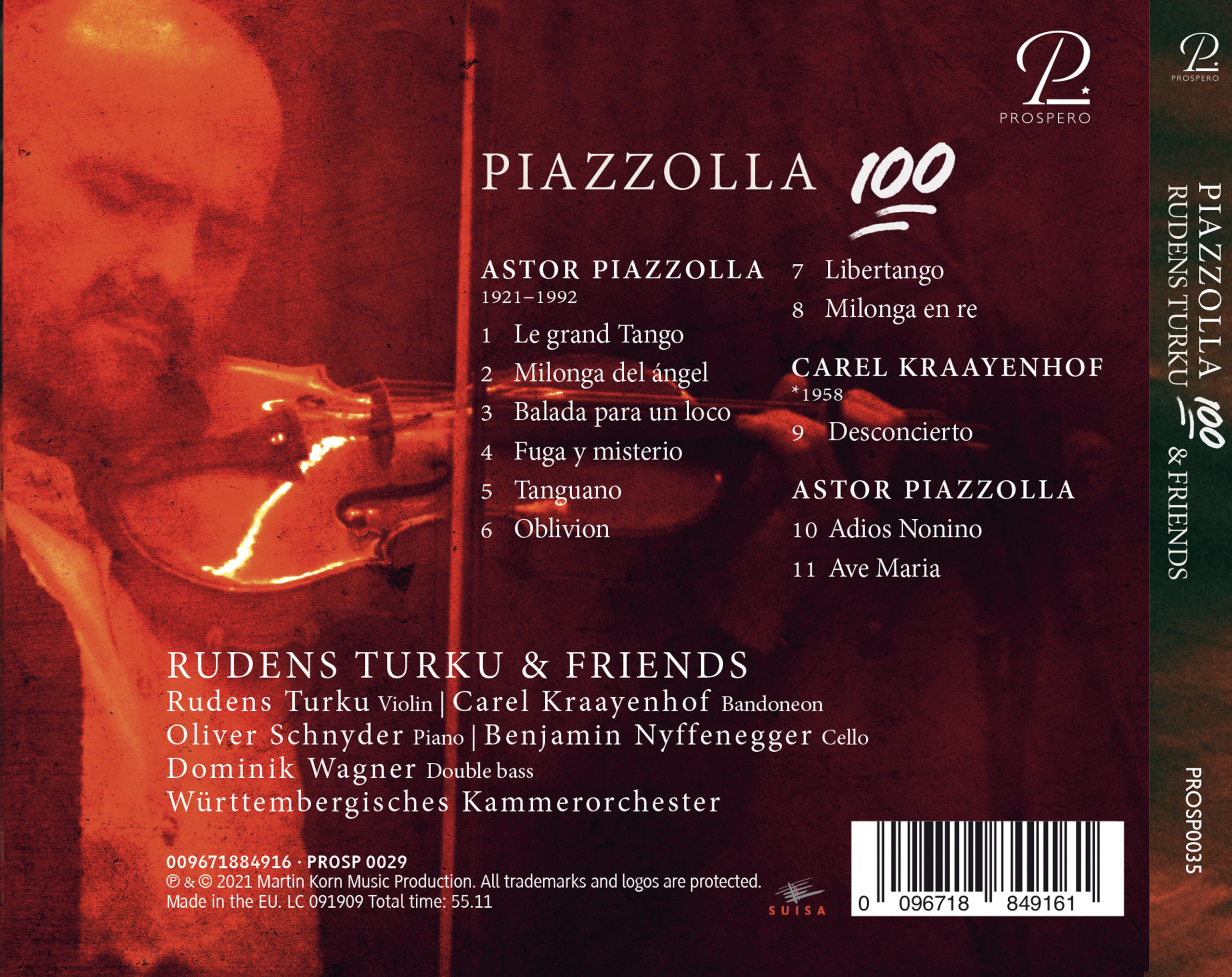 Piazzolla 100 - Digibook Back